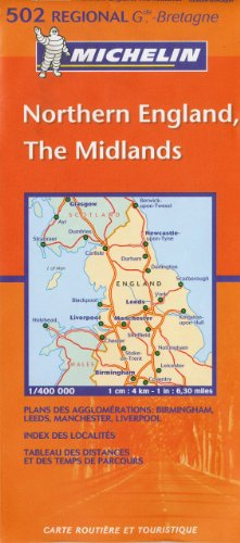 Michelin Map Great Britain: Northern England, The Midlands 502 (Maps/Regional (Michelin))