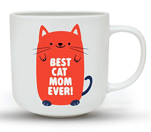 Gifffted Worlds Best Cat Mom Ever Gift Coffee Mug, Cat Lover Gifts Ideas for Women, Anniversary and Birthday For Her, Ornament, Funny Mugs, Memes, Gag, Witty, Valentines Day, Pink, 13 Oz Cup