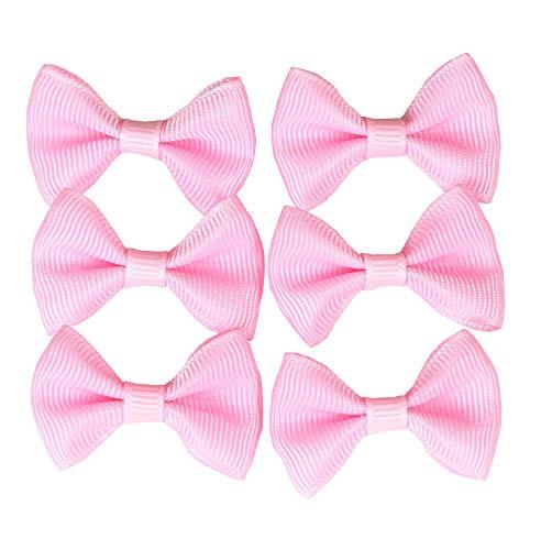 YAKA100PC Grosgrain Ribbon Mini Bow Ties Craft,Scrapbooking DIY Embellishmen Projects,Bowties Decorations for DIY Kids Hair Clips,Pets Hair Bows(1.5