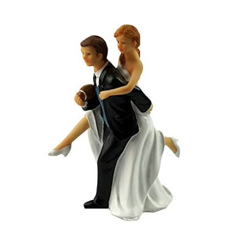 ding Couple Figurine Wedding Cake Topper (Football 123)