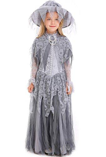 Honeystore Girls Haunted Beauty Child Costume Ghost Dead