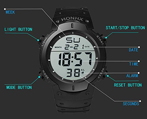 ... DYTA Sport Watches 5 ATM Waterproof Outdoor LED Digital Watch Military Rubber Wrist Watch Strap with Clasp Analog Quartz Watch Relojes De Hombre Gifts ...