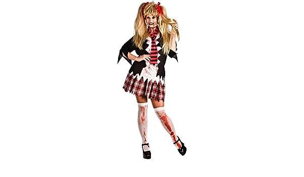 El Rey del Carnaval Disfraz de Colegiala Zombie para Mujer: Amazon ...