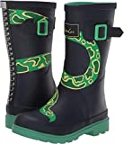 Joules Boys' JNR Welly Print Rain Boot, Navy Snake, 3 M US Little Kid