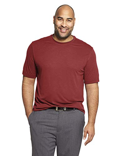 (Van Heusen Men's Air Short Sleeve Doubler Crew Neck Tee, red Rusted Root, XX-Large)