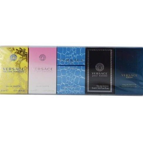 Versace Variety 5 Piece Unisex Mini Variety With Man eau Fraiche & Signature
