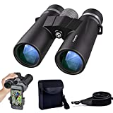 Cheap 10×42 Binoculars for Adults Compact Professional HD Waterproof Fogproof Binoculars for Bird Watching Telescopes Wildlife Hiking Travel Stargazing Hunting Concerts Sports BAK4 Prism FMC Lens