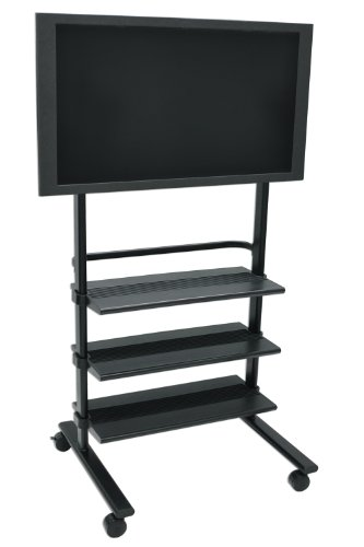 Luxor Universal LCD Flat Panel Stand with 3 Shelf (Luxor Universal Lcd)