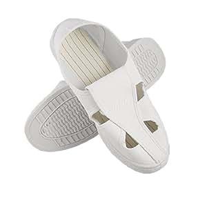 Hombre blanco PVC suela sourcingmap alicates de precisión para trabajo de mariposa habitación limpia zapatos de US 8,5