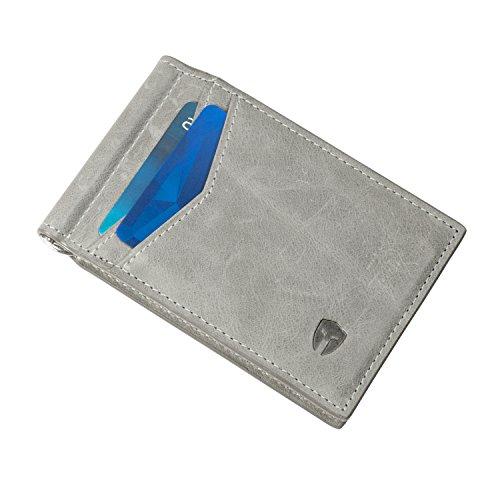 07. Minimalist Front Pocket Wallet RFID Blocking Genuine Leather Mens Slim