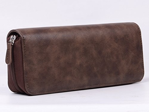420 and Vape Leather Travel Case - Store Your Batteries Concentrates, Chillums, Toobs, Grinders, and Other 420 Accessories! Also Includes Two Built-in Buttom snap Pockets by Tokebox (Image #3)