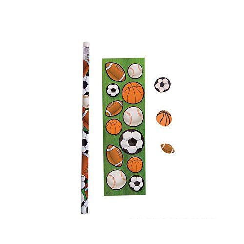 Sport Ball Pencil Stationery Set by Bargain World