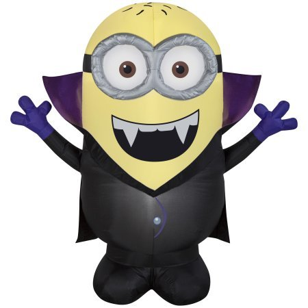 Halloween Inflatable 4.5' Despicable Me Minion Jerry Gone Batty By Gemmy -