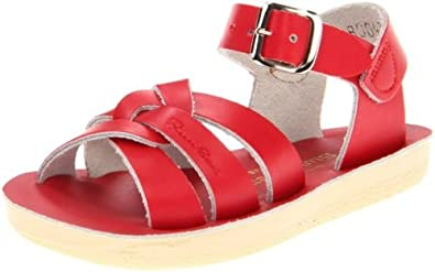 Salt Water 1404-RED by Hoy Originals Red Little Kids Sandals