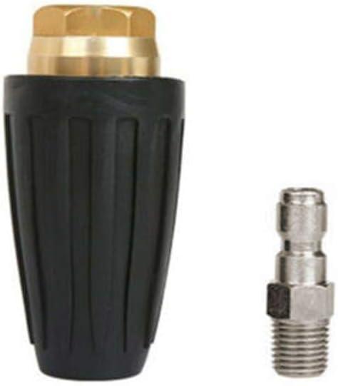 DIYARTS Boquilla Giratoria 1/4 Pulgadas Tapón de Conexión Rápida 7.5KW Hidrolimpiadora de Alta Velocidad Boquilla Giratoria Accesorio para Limpieza (4.0)