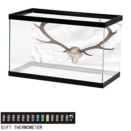 bybyhome Fish Tank Backdrop Antlers,Antlers Skeleton Hunter,Aquarium Background,36