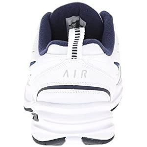 Nike Men's Nike Air Monarch IV Training Shoes 9 (White/Metallic Silver-Mid Navy)