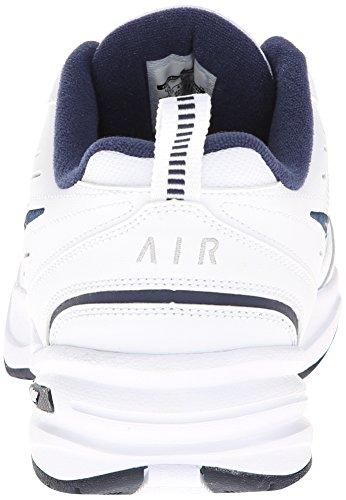 Men's Nike Air Monarch IV (4E) Training Shoe White/Navy/Silver Size 14 Wide  4E | ubuy online shopping Qater