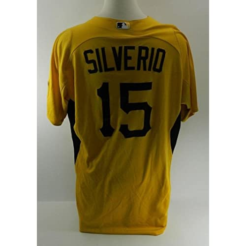 newest 2cd02 3437d new Pittsburgh Pirates Luis Silverio #15 Game Used Spring ...