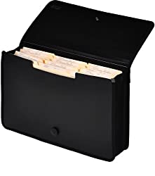 Lion Ex Pand-n-file Poly Ex Panding Wallet, Legal (9-12 X 15 Inches), 2-12 Inches Gusset, Black, 1 Wallet (48150-bk)
