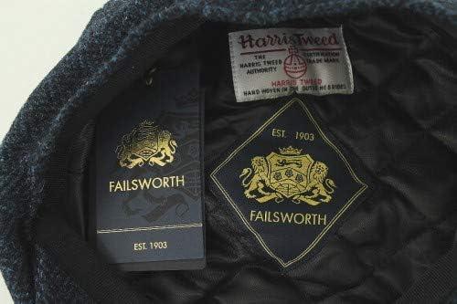 Harris Tweed 8 pezzi Earland Brothers Failsworth 3302 Cappelli scozzesi stile bakerboy blu