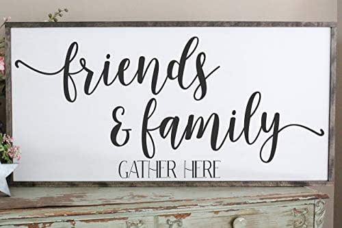 Amazon Com Friends And Family Gather Here Wall Art Hand