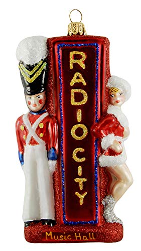 Radio City Music Hall Rockettes Soldier Rockefeller Center Manhattan New York City Polish Glass Christmas Ornament Souvenir 110168