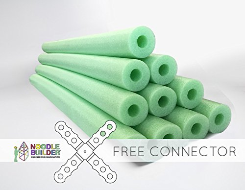 Oodles of Noodles Deluxe Foam Pool Swim Noodles - 10 PACK 52 Inch Wholesale Pricing Lime Green