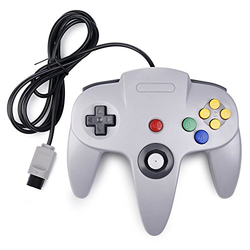Diswoe Classic N64 Controller Wired Controllers for PC and Mac (Grey)