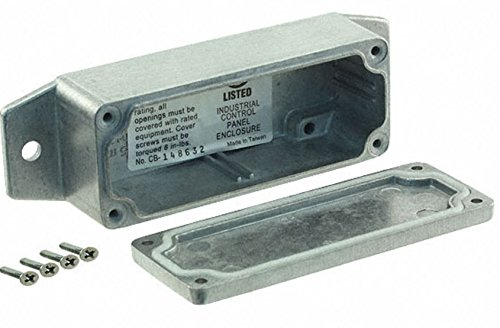 BUD Industries AN-2850-A IP68 Aluminum 3.54x1.42x1.18 Enclosure with Molded in Mounting Brackets, Natural