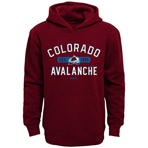Colorado Avalanche Youth Fleece - Outerstuff NHL Colorado Avalanche Boys Kids Todays Highlights Fleece Hoodie, Large/(7), Garnet