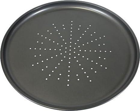 Fridge Prochef Non-Stick Large 32.5cm//12.5inch Carbon Steel Pizza Tray Freezer /& Dishwasher Safe with 5 Year Guarantee Black