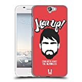 Head Case Designs Man Up Bearded Bravado Hard Back Case for HTC One A9s