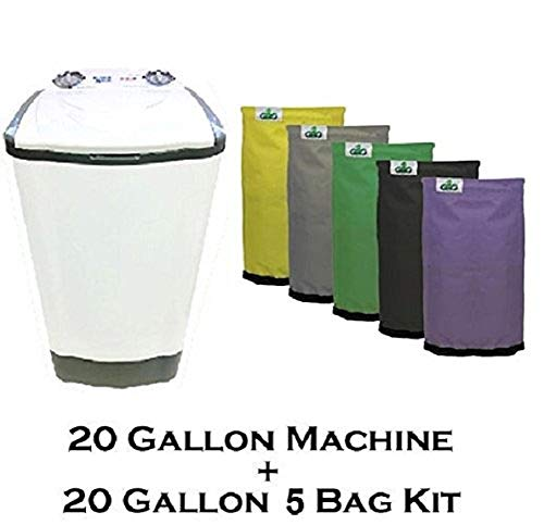 20 Gallon Bubble Magic Washing Machine + GROW1 Ice Hash Extraction 5...
