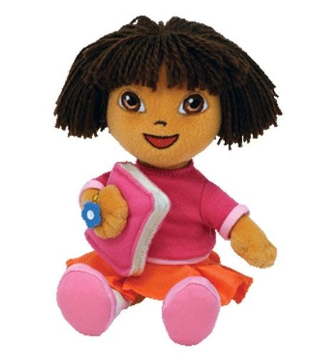 (Ty Dora the Explorer Beanie Baby Back to School Dora (with)