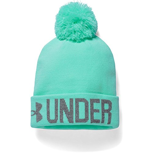 Under Armour Women's UA Graphic Pom Beanie One Size Fits All CRYSTAL