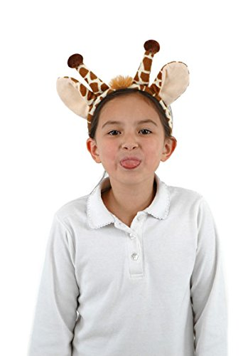 Giraffe Ears Costume Headband and Tail for Women by -