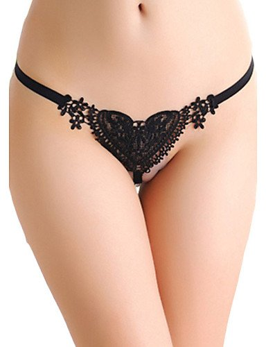 GAOQIANGFENG GAOQIANGFENG GAOQIANGFENG G-Strings & ThongsSweet Lace Heart Pearl G-String,One-Size,blanco 359367
