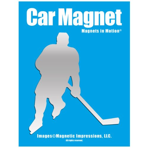 Ice Hockey Player Male Car Magnet Chrome (Best Female Hockey Player)