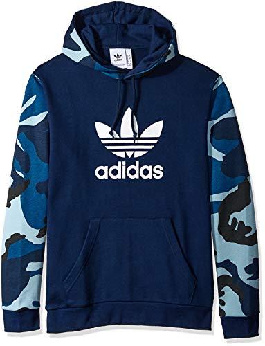 - adidas Originals Men's Camo Over The Head Hoodie, Collegiate Navy, XX-Large
