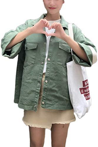 Solidi Casuale Lunga Cute Con Giaccone Giubbotto Donna Outerwear Confortevole Forti Tasche Giubotto Autunno Primaverile Chiusura Taglie Armygreen Moda Colori Chic Di Manica Eleganti Bottoni fvcBfyXOZp