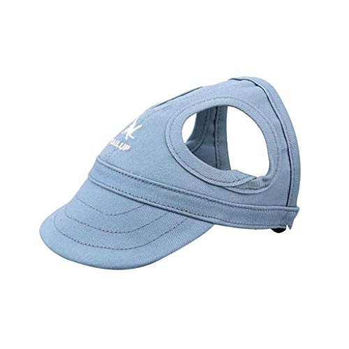 Pet Hat with Ear Holes Dog Sport Baseball for Sun Protection Adjustable Buckle ()