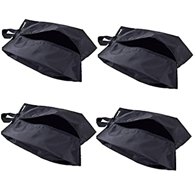 Misslo Portable Waterproof Nylon Travel Shoe Bags with Zipper Closure (4, 15 inch)