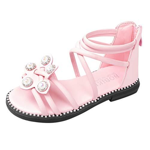 Respctful✿ler Girl Rhinestone Dress Sandals Open Toe Beach Sandals Princess Flats Sandals -