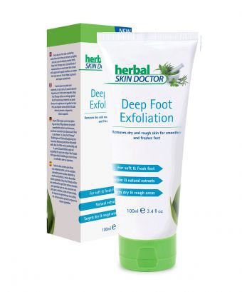 Deep Foot Exfoliation 100ml, Herbal Skin Doctor made in the UK Removes dry and rough skin for smoother and fresher feet. Medex Scientific