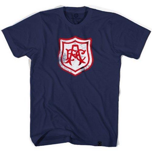 Ultras Soccer Wear Arsenal Vintage escudo fútbol camiseta de fútbol azul marino - Azul -: Amazon.es: Ropa y accesorios