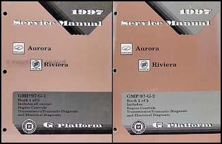 1997 Olds Aurora & Buick Riviera Repair Shop Manual Original 2 Volume ()