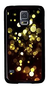 Abstract Golden Bokeh Custom Samsung Galaxy S5/Samsung S5 Case Cover Polycarbonate Black