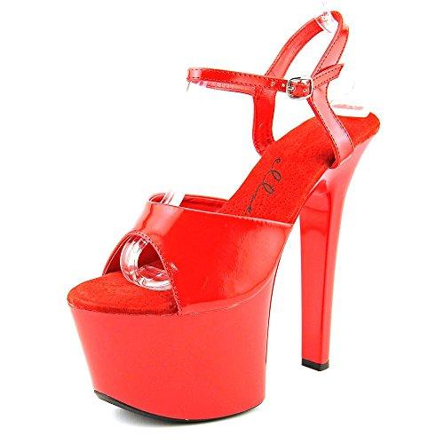Platform Sandal Shoes Flirt 711 Ellie Red Women's w87SqxI6