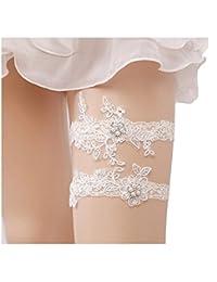 Bhwin Rhinestones Lace Wedding Bridal Garter Belt Set